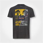 Red Bull Graphic T-Shirt Skyline Dark Grey Melange